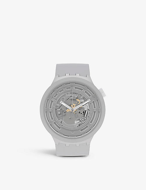 SWATCH: SB03M100 C-Grey Bioceramic chronograph watch