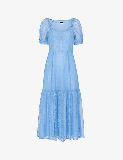 WHISTLES: Lace-corset woven midi dress
