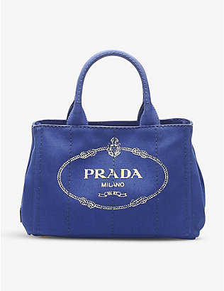 RESELLFRIDGES: Pre-loved Prada Canapa canvas tote bag