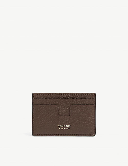 TOM FORD: Full grain leather cardholder