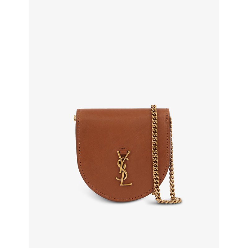 Saint Laurent Kaia Baby Leather Cross-body Purse Bag In Neutrals