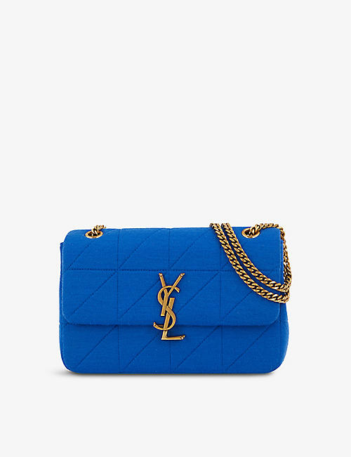 SAINT LAURENT: Jamie wool shoulder bag