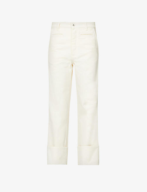 LOEWE: Fisherman cropped high-rise denim jeans