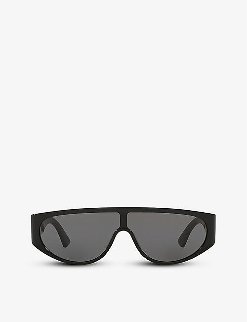 BOTTEGA VENETA: BV1027S rectangular-frame acetate sunglasses