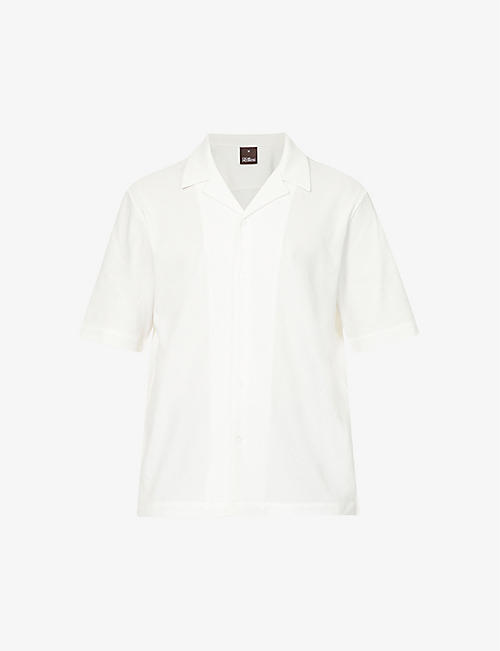 OSCAR JACOBSON: Cid short-sleeve cotton shirt
