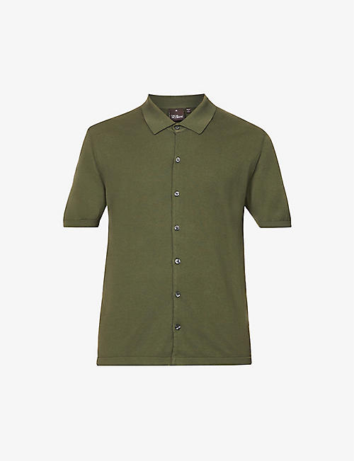 OSCAR JACOBSON: Celvin short-sleeve cotton polo shirt