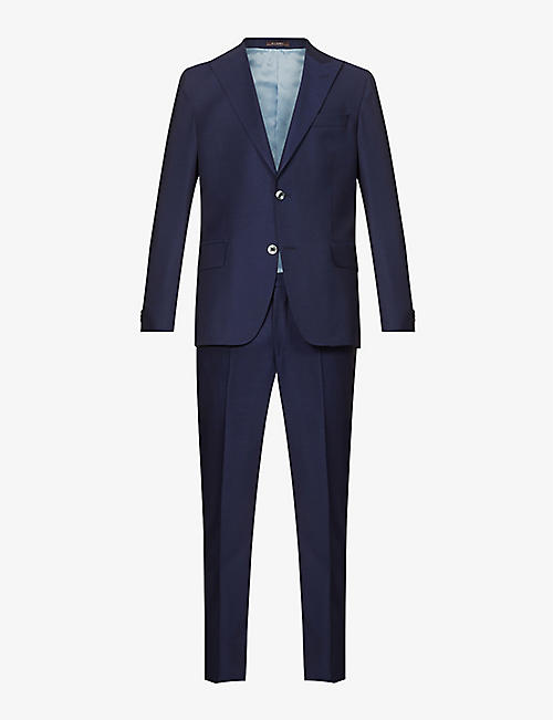 OSCAR JACOBSON: Faron single-breasted slim-fit wool suit