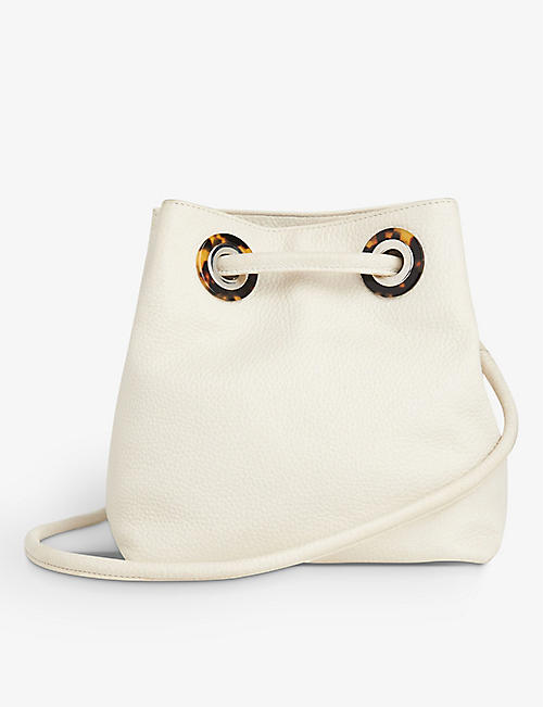 WHISTLES: Mabel grained leather shoulder bag