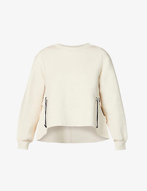 VARLEY: Bella drawstring-waist cotton-blend sweatshirt