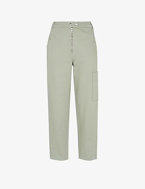 WHISTLES: Pax Zip mid-rise straight-leg cotton trousers
