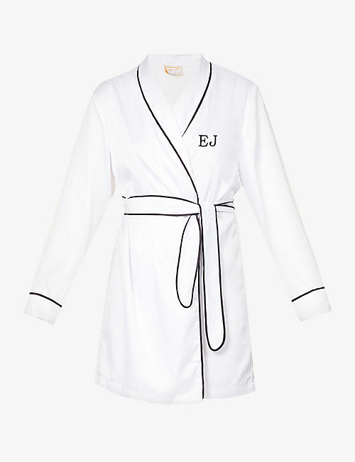 H A DESIGNS: Personalised satin-crepe dressing gown robe