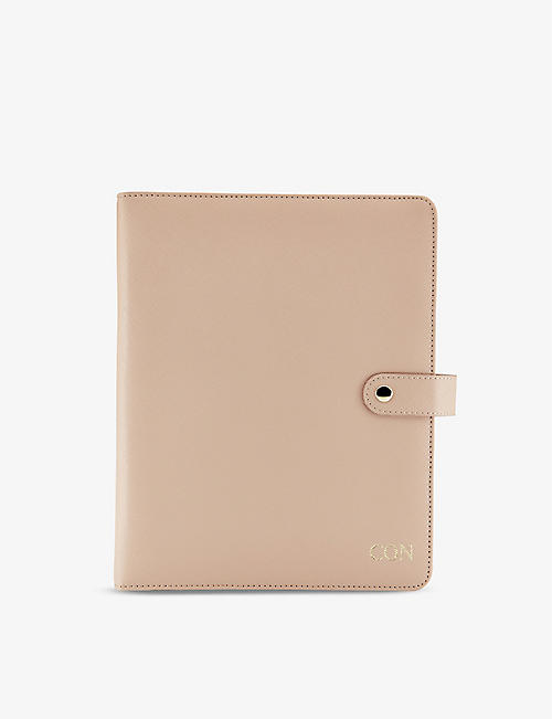 H A DESIGNS: Personalised leather diary organiser