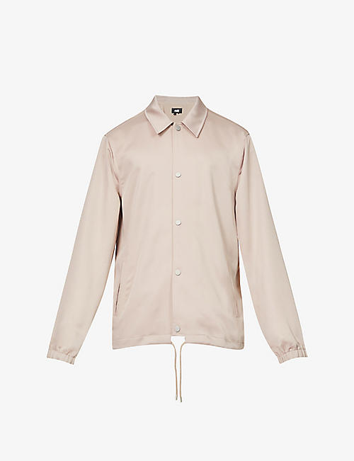 PAIGE: Santos spread collar stretch-satin jacket