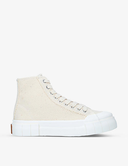 GOOD NEWS: Palm high-top organic-cotton trainers