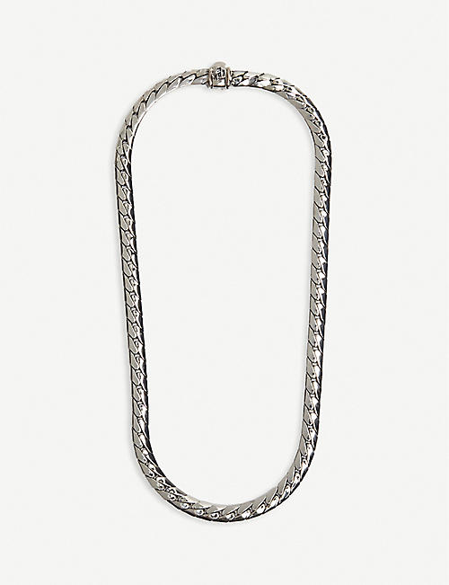 EMANUELE BICOCCHI: Brand-engraved sterling-silver chain necklace