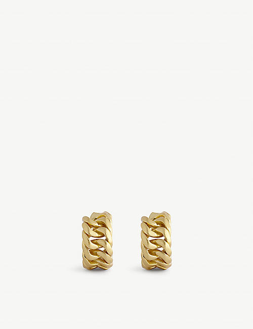 OROTON: Mika gold-toned brass hoop earrings