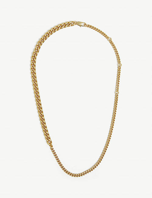 OROTON: Felix gold-toned brass necklace