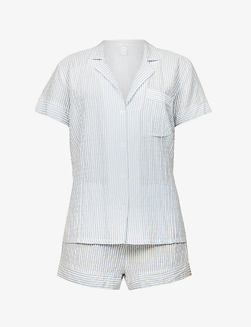 EBERJEY: Nautico striped cotton-blend pyjama set