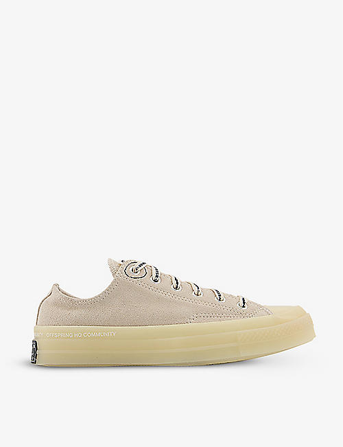 CONVERSE: Converse x Offspring Community All Star Ox 70 low-top suede trainers