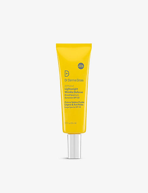 DR DENNIS GROSS SKINCARE: All-Physical Lightweight Wrinkle Defense Broad Spectrum SPF 30 suncream 50ml