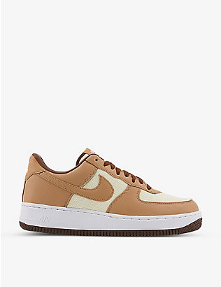 NIKE: Air Force 1 '07 low-top leather and canvas trainers
