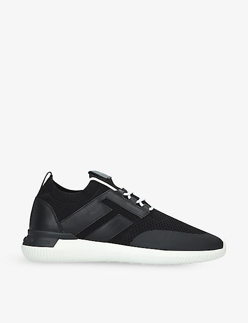 TODS: Maglia Sportivo leather and mesh trainers