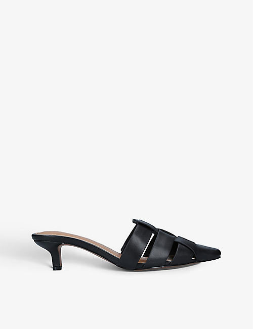 WHO WHAT WEAR: Petra pointed-toe heeled leather mules