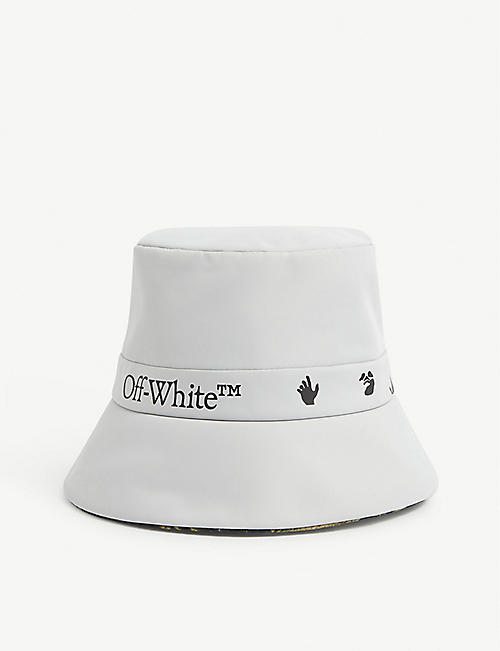 OFF-WHITE C/O VIRGIL ABLOH: Logo-print reversible nylon bucket hat