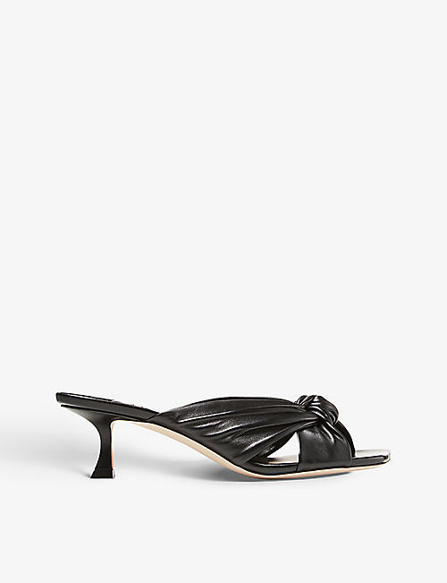 JIMMY CHOO: Avenue 50 heeled leather mules