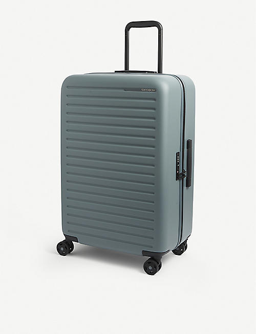 SAMSONITE: StackD Spinner recycled-plastic suitcase 68cm