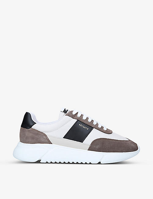 AXEL ARIGATO: Genesis Vintage Runner recycled-nylon and leather trainers