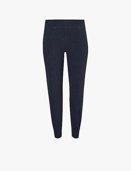 SWEATY BETTY: Gary Yoga cropped mid-rise stretch-jersey jogging bottoms