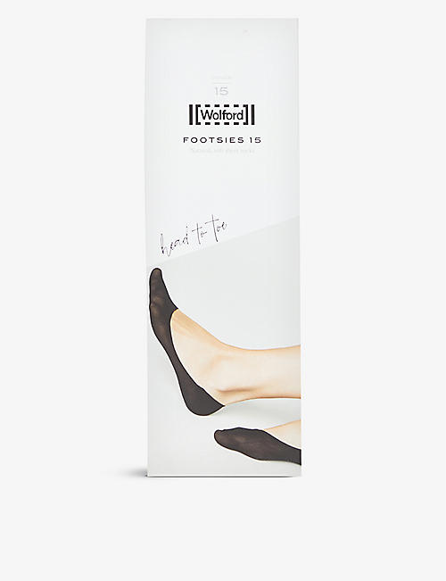 WOLFORD: Footsies no-show knitted socks 15 denier