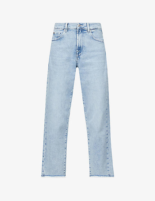 7 FOR ALL MANKIND: The Modern straight-leg mid-rise stretch-denim jeans