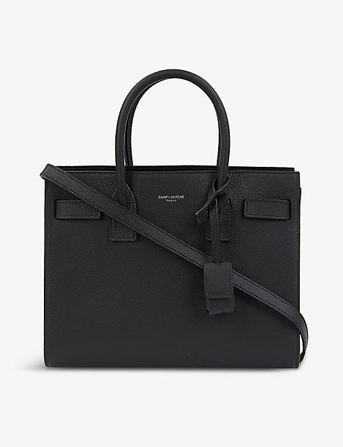 SAINT LAURENT: Sac du Jour Baby leather top handle bag