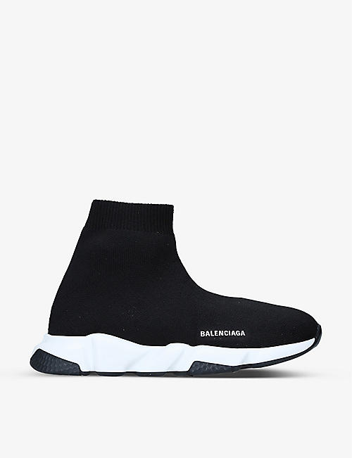 BALENCIAGA: Speed mid-top knitted trainers 3-7 years