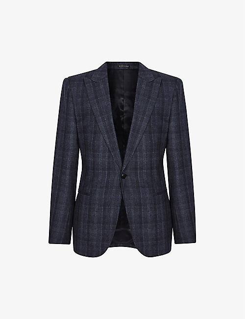 REISS: Oxsted checked slim-fit wool blazer