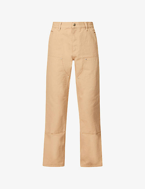 CARHARTT WIP: Logo-patch straight-leg cotton trousers