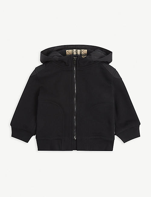 BURBERRY: Timothy logo-embossed cotton hoody 6-24 months