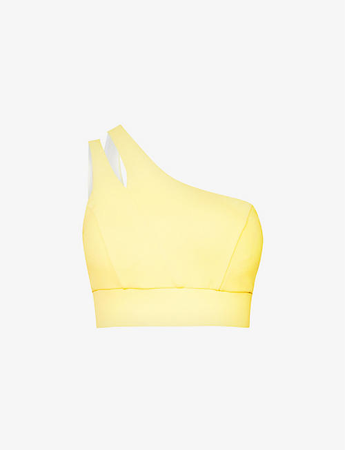 MICHI: Tigress asymmetric stretch-woven sports bra
