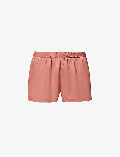 LOVE STORIES: Brad mid-rise satin pyjama shorts