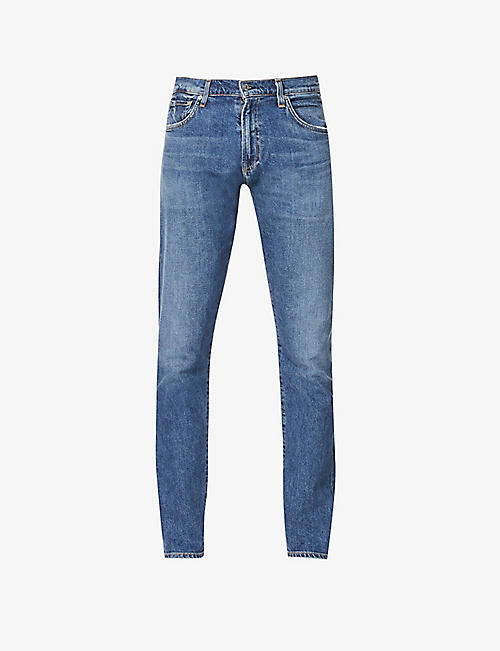 CITIZENS OF HUMANITY: Adler tapered stretch-denim jeans