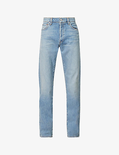 CITIZENS OF HUMANITY: Joaquin slim-fit organic-cotton blend denim jeans