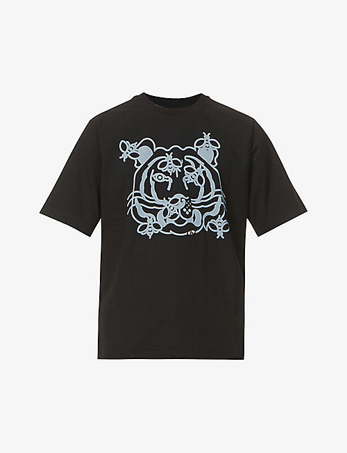 KENZO: Bee a Tiger graphic-print cotton-jersey T-shirt