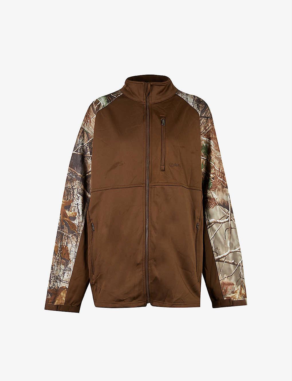 Pre-Loved camo-print stretch-woven jacket