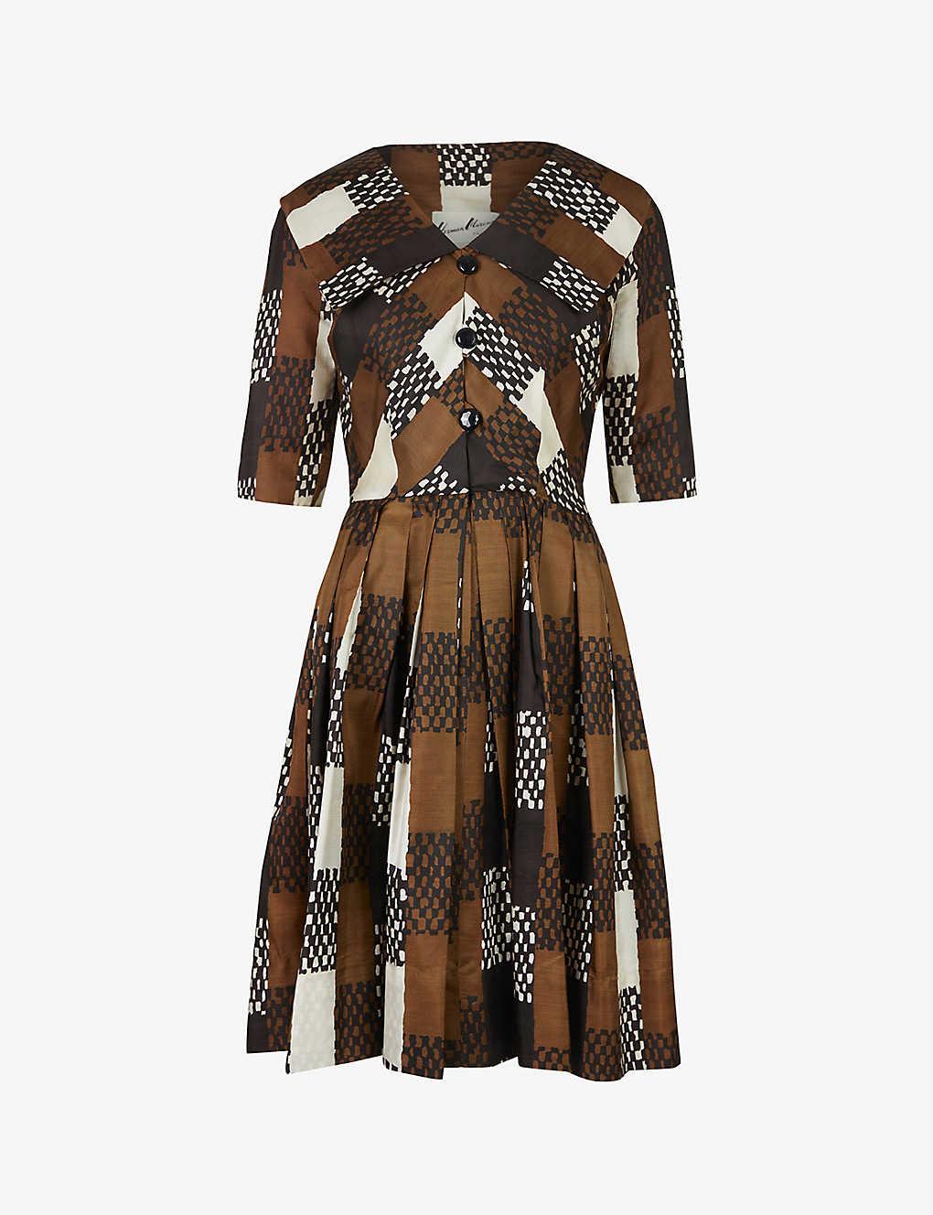 Pre-loved Herman Marcus woven midi dress