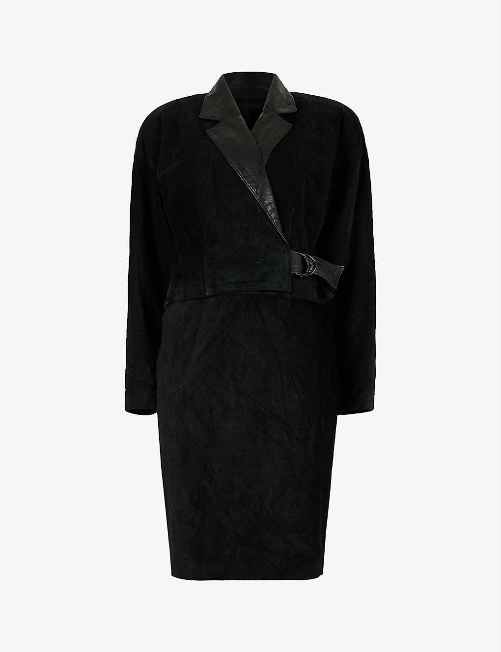 Pre-Loved DANIER suede skirt suit