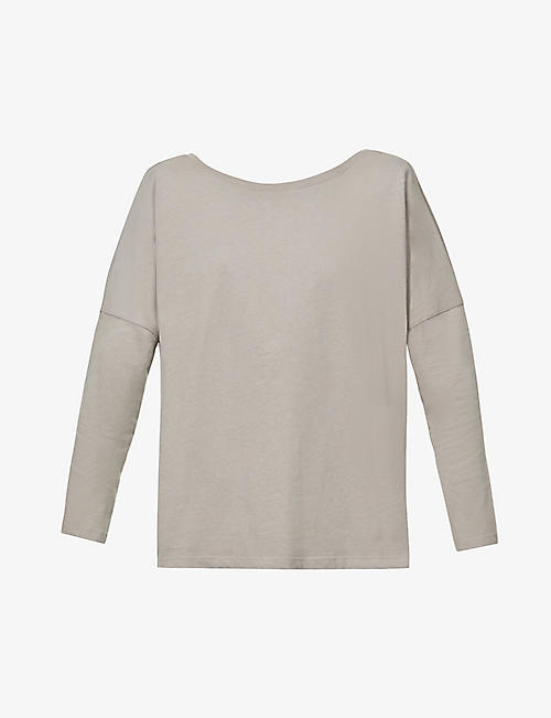 THE ODDER SIDE: Backless oversized organic-cotton T-shirt