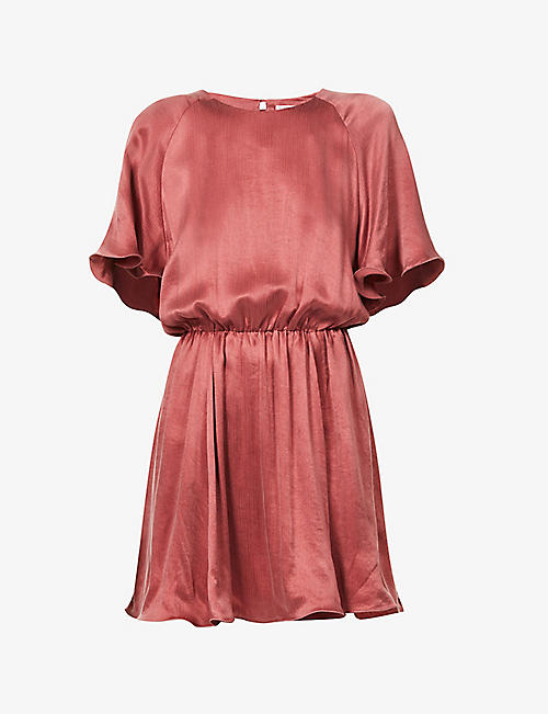 THE ODDER SIDE: Sharon ruffled-trim woven mini dress