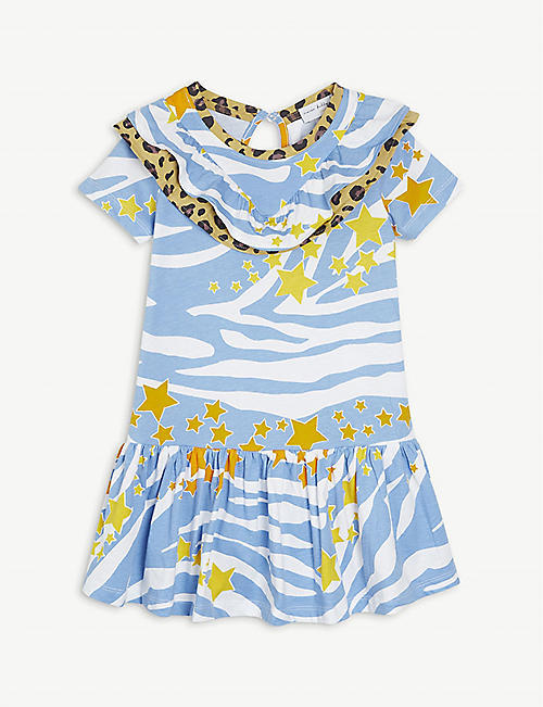 NEVER FULLY DRESSED: Zebra-print cotton dress 2-7 years